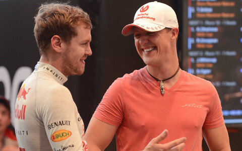 Sebastian Vettel ja Michael Schumacher 2012. aastal.