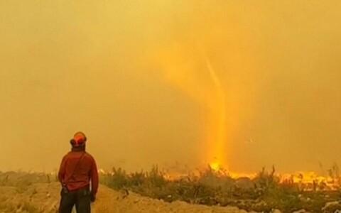 Огненный торнадо.
