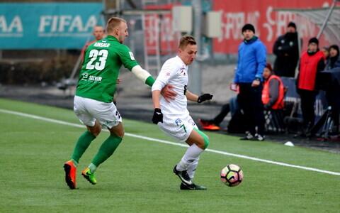FC Flora särgis Pavel Marin möödunud aasta koduse meistriliiga kohtumises FCI Levadia vastu