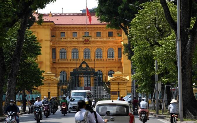 Vietnami presidendi palee Hanois.