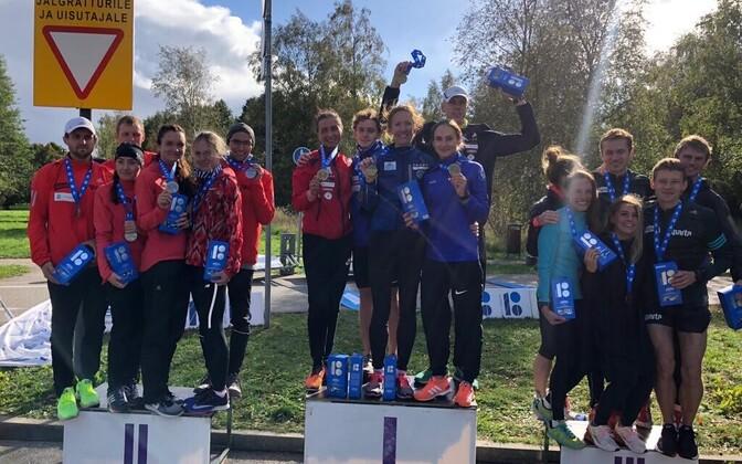 2018 Eesti ekideni meistrivõistluste esikolmik Treeningpartner, Sparta SS ja Sparta SS II võistkonnad