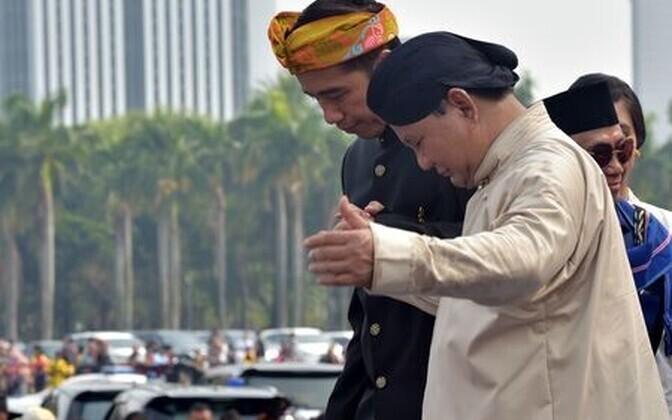 Joko  Widodo ja Prabowo Subianto.