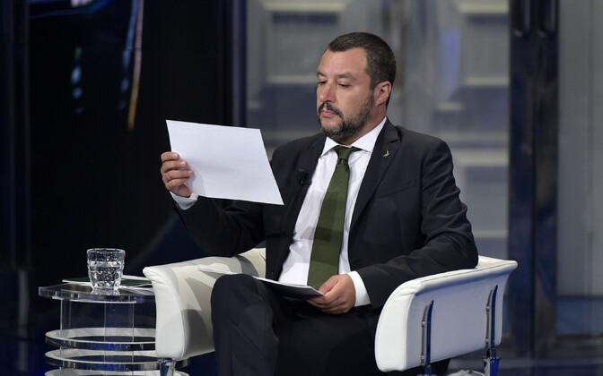 Itaalia siseminister ja erakonna Liiga juht Matteo Salvini.