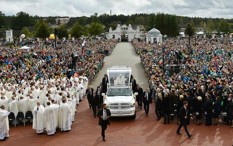 Pope Francis in Aglona, Latvia, where he celebrated Holy Mass.