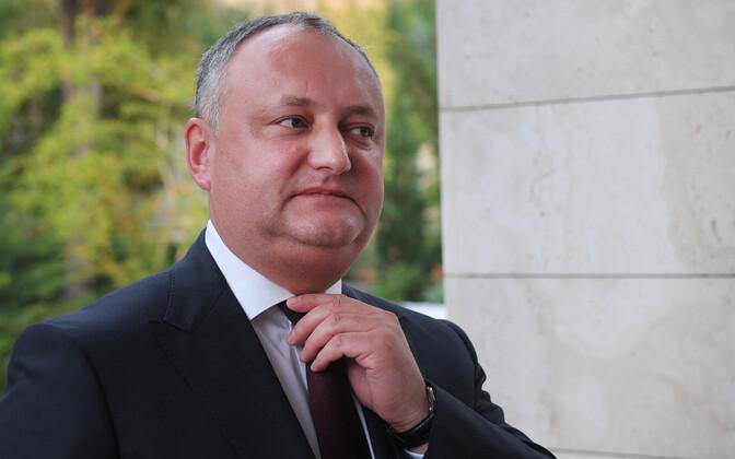 Moldova president Igor Dodon.