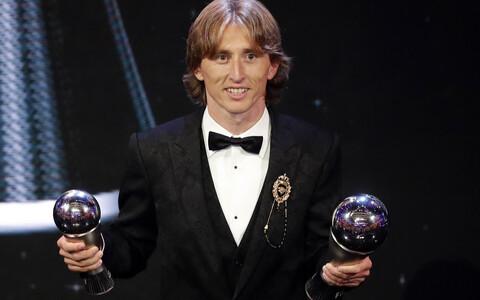 Luka Modric FIFA jalgpalliauhindade tseremoonial