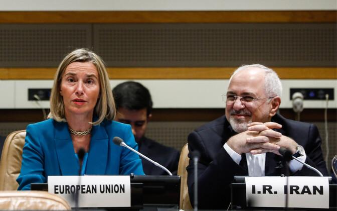 EL-i välispoliitikajuht Federica Mogherini ja Iraani välisministri Mohammad Javad Zarif.