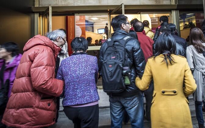 Hiina turistid.