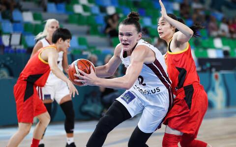 Lätlannade resultatiivseim mängija Anete Šteinberga kohtumises Hiina vastu