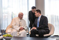 Prime Minister Jüri Ratas (Centre) sees off Pope Francis on Tuesday evening. 25 September 2018.