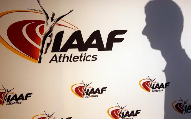 Rahvusvahelise kergejõustikuliidu (IAAF) logo.