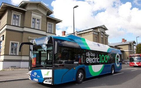 The electric bus is already serving a new free route connecting Tartu's city centre to Tartu Railway Station.
