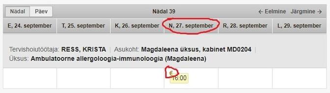 636042ade5c Allergoloogile tasuta aegu saada ei ole. Esimene võimalus 63-eurosele  vastuvõtule minna avaneb 27. novembril. Kui on vaja teha torketeste,  vereanalüüsi jm, ...