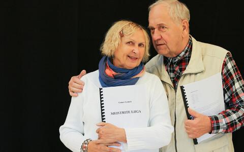 Luule Komissarova (vasakul) ja Peeter Jürgens.