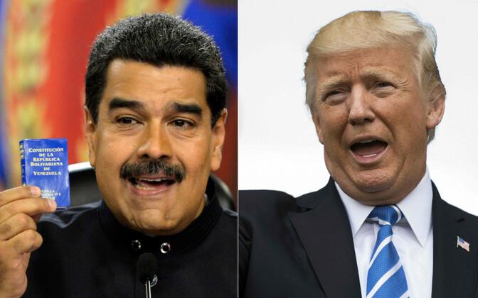Venezuela president Nicolas Maduro ja USA president Donald Trump.