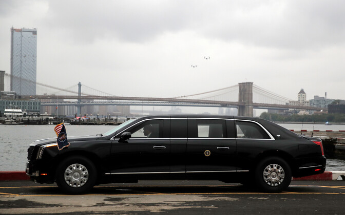 USA presidendi uus ametiauto 25. septembril New Yorgis.