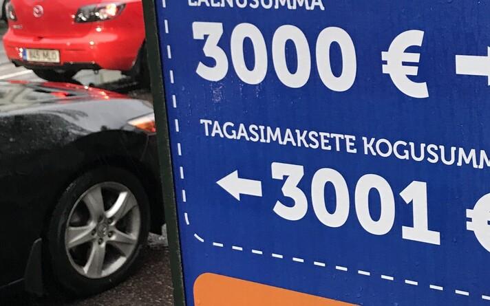 Наружная реклама экспресс-кредитов в Таллинне.
