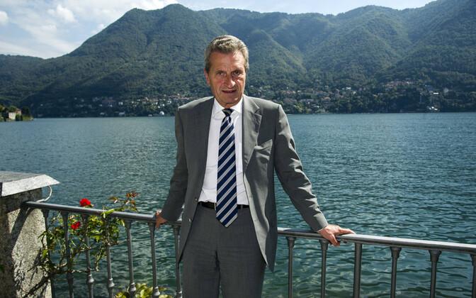 Euroopa Komisjoni eelarvevolinik ja CDU poliitik Günther Oettinger.