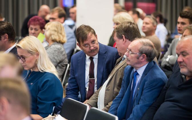 Taavi Aas Keskerakonna volikogu koosolekul möödunud aasta sügisel.