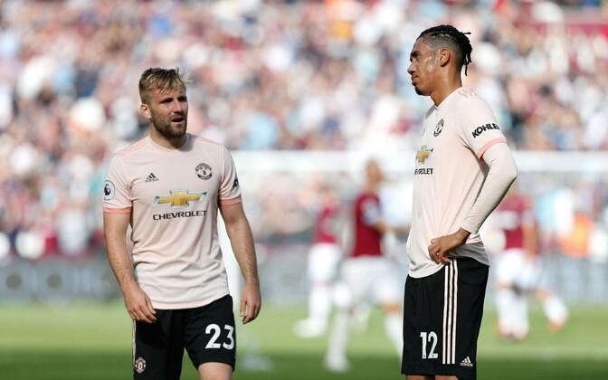 Manchester Unitedi kaitsjad Luke Shaw ja Chris Smalling