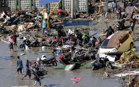 Kesk-Sulawesi provintsis asuv Palu pärast tsunamit ja maavärinat.