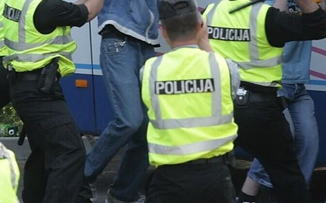 Läti politsei.