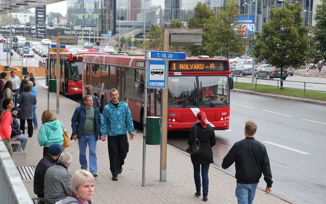Bus stop in Tartu.