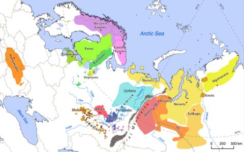 Uurali keeli kõnelevad rahvad asuvad geograafiliselt väga erinevates piirkondades..