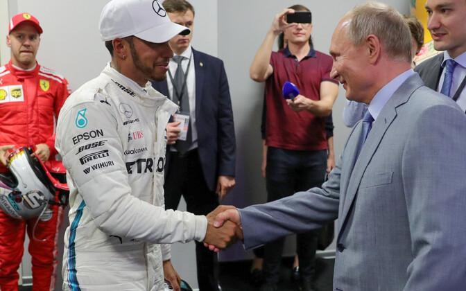 Lewis Hamilton ja Venemaa president Vladimir Putin