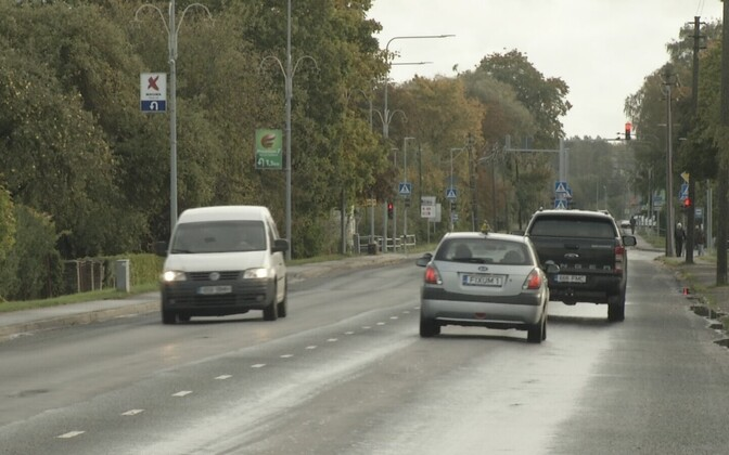 Движение на Таллиннском шоссе в Хаапсалу