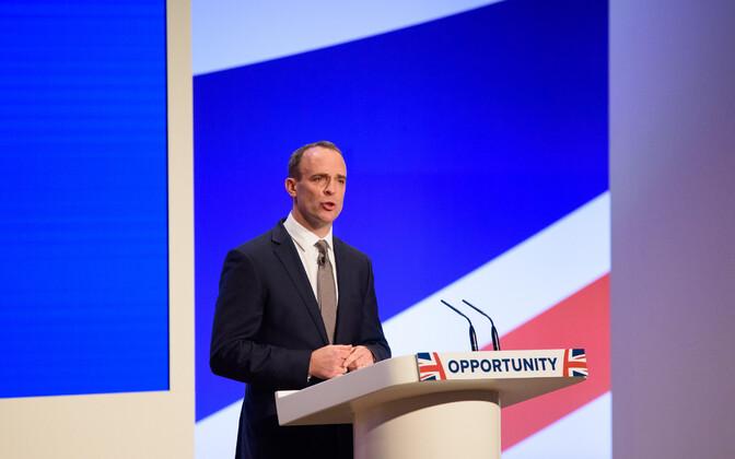 Brexiti-minister Dominic Raab Briti konservatiivide aastakonverentsil.