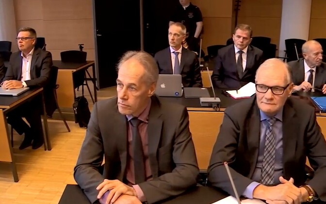 Soome politseijuhid kohtupingis.