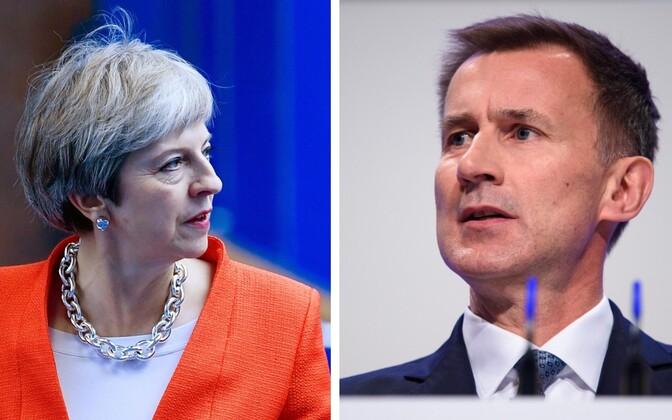 Theresa May ja Jeremy Hunt.