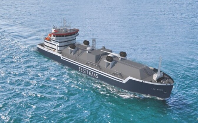 Rendering of Eesti Gaas' barge, to be built by Damen in the Netherlands.