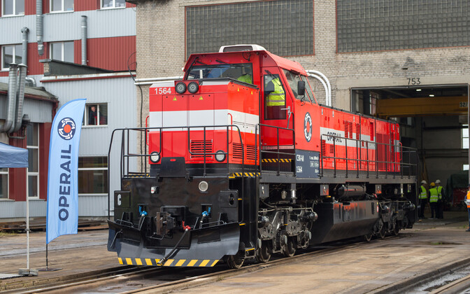 C30-M locomotive rebuilt at the depot in Tapa.