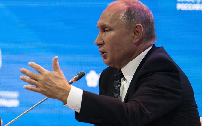 Venemaa president Vladimir Putin Moskvas foorumil