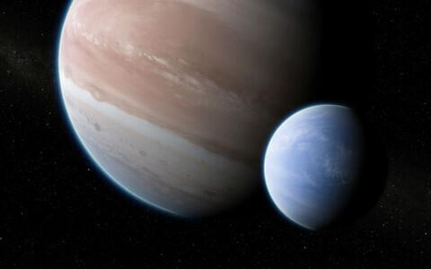 Eksokuu Kepler-1625b-i  kunstniku nägemuses.