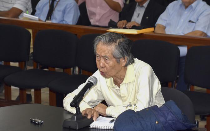 Ekspresident Alberto Fujimori 2018. aasta aprillis Lima kohtusaalis.