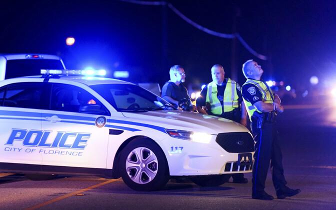 Politseinikud sündmuskohal Lõuna-Carolinas.