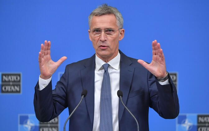 NATO chief Jens Stoltenberg is meeting with Estonian foreign minister Sven Mikser in Brussels on Thursday.