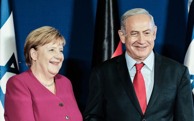 Saksa kantsler Angela Merkel ja Iisraeli peaminister Benjamin Netanyahu.
