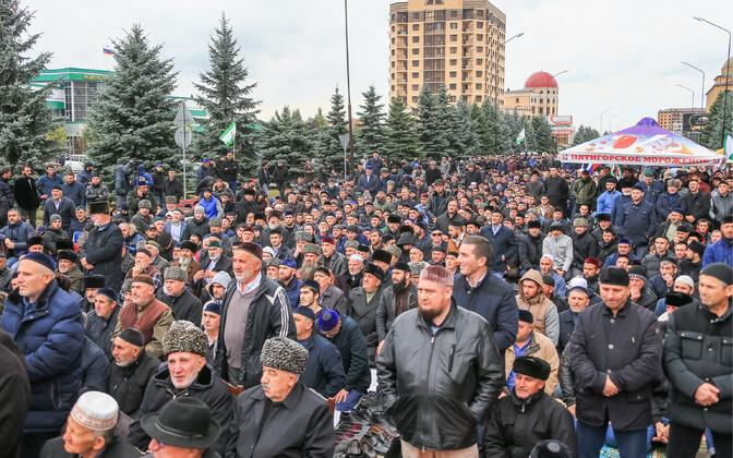 Митингующие в столице Ингушетии Магасе.
