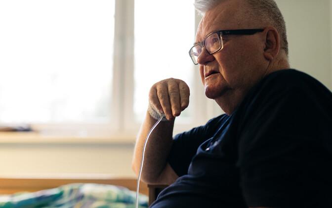 Edgar Savisaar in hospital in Jõgeva. 6 October 2018.