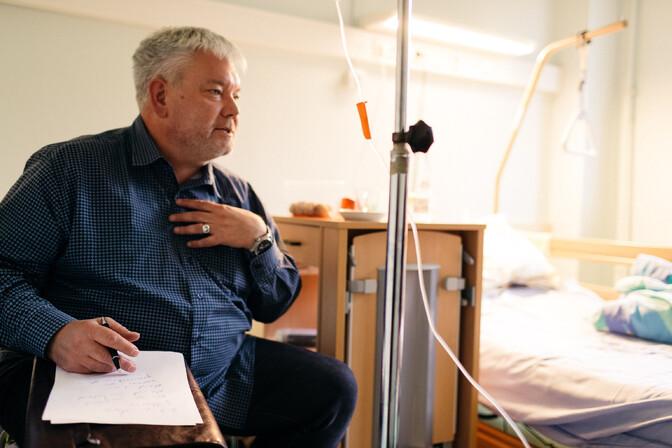 eb33e6b3d27 Toomas Sildami intervjuu Edgar Savisaarega Jõgeva haiglas Autor: Priit  Mürk/ERR