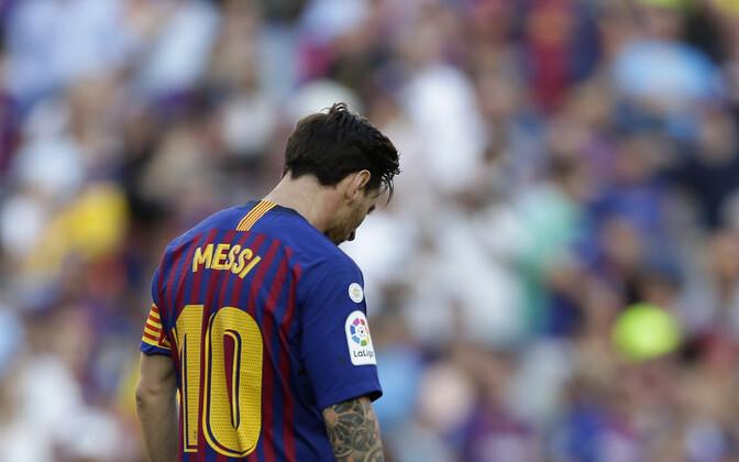 Llionel Messi Hispaania kõrgliiga kohtumise ajal Bilbao Athleticuga