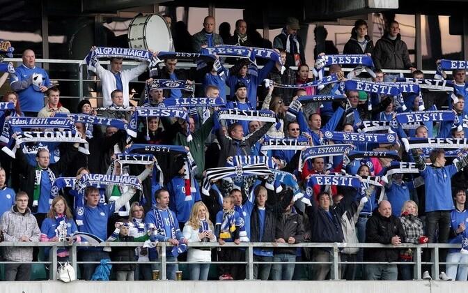 Большую часть зрителей составят болельщики сборной Эстонии.