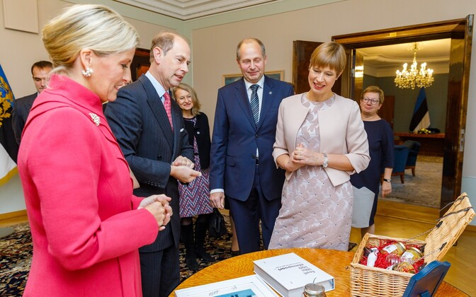 The Earl and Countess of Wessex were received by President Kersti Kaljulaid and her husband Georgi-Rene Maksimovski on Sunday. 7 October 2018.