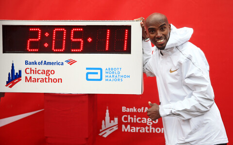 Mo Farah Chicago maratonil