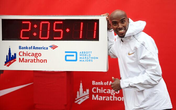Mo Farah Chicago maratonil