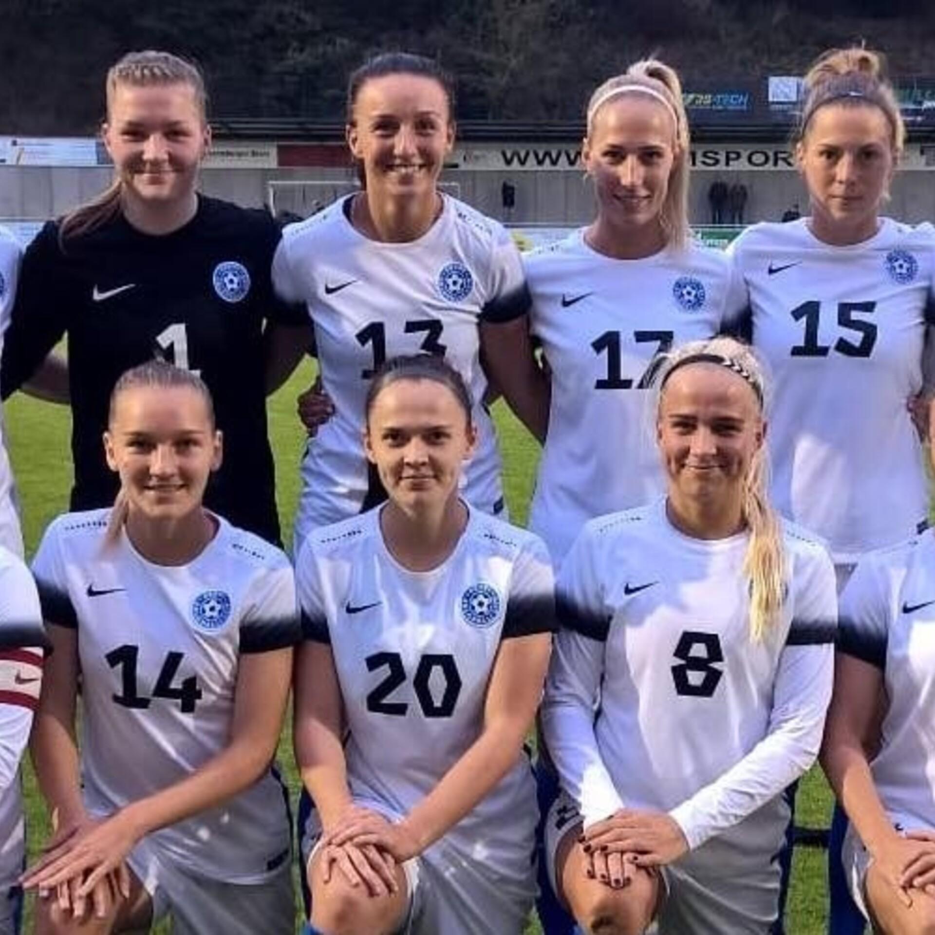 51dc0c97ac3 Eesti naiste jalgpallikoondis sai viimaste aastate suurima võidu |  Jalgpalli Eesti koondis | ERR